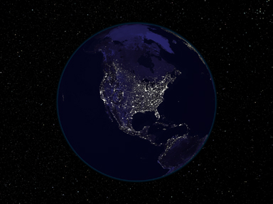 North America at night